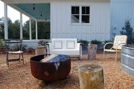 porch propane fire pit patio shabby chic style with metal aluminum