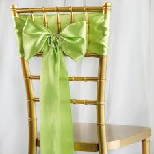 satin chair sashes 5pcs apple green satin chair sashes tie bows catering wedding