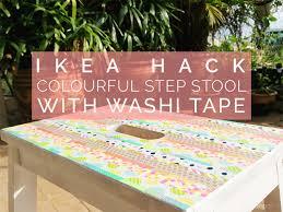 ikea step ikea hack colourful step stool with washi tape petit bout de chou