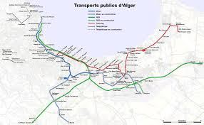 La Metro Train Map by File Metro Suburban Train And Tramway Map Of Algiers Png