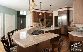 curved kitchen island curved kitchen island with seating smooth beige ceramic floor tile