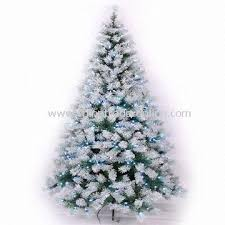 wholesale seven foot deluxe snow pine tree with 276 white led