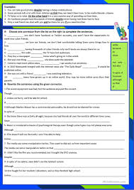 Connectives And Conjunctions Worksheets Conjunctions Worksheet Free Esl Printable Worksheets Made By