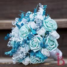 theme wedding bouquets blue wedding flowers january bouquet blueprint neon color block