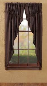 Burlap Looking Curtains Country Window Treatment Primitive Country Curtains Rustic