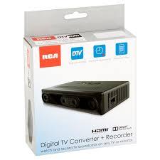 rca digital broadcast analog tv converter box dvr recording media