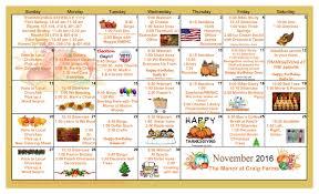 november 2016 calendar u2013 the manor at craig farms