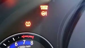 honda accord tire pressure light stays on 2015 honda fit ex tpms check light youtube