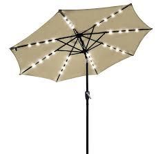 Led Patio Umbrella by Outdoor Patio 32 Led Solar Powered Aluminium Umbrella Crank Tilt