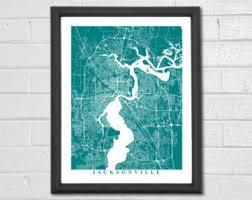 Home Decor Jacksonville Fl Jacksonville Map Etsy