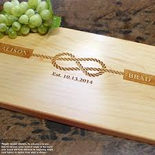 personalized wedding cutting board tying the knot nautical personalized engraved cutting