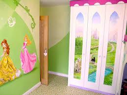 girls bedroom mural corner with door and wardrobe disney disney princesses in castle bedroom