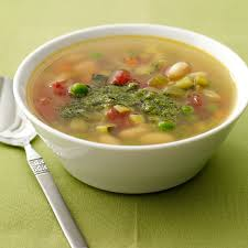 spring vegetable soup with pesto recipes weight watchers