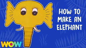 how to make elephant paper plate party masks paper art and craft