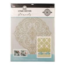 folkart home decor ornate damask wall stencil 21 5 in x 17 5 in