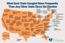 Map Election by What Each State Googled More Frequently Than Any Other State Since