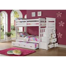 Twin Over Twin Loft Bed by Espresso Wood Twin Loft Bed With U Shaped Desk Underneath
