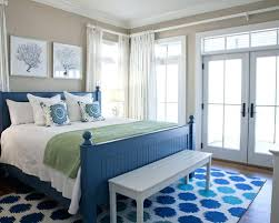 Beach Style Master Bedroom Navy Blue And Beige Decor Navy Blue Bedroom Color Schemes Light