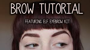 How To Fill Eyebrows Coffee Pls It U0027s All About Brows Tutorial Using Elf Eyebrow Kit