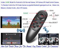 amazon com vr remote controller gamepad bluetooth control vr