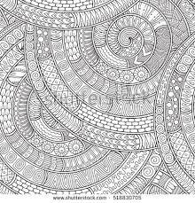 ornamental ethnic black white pattern background stock vector