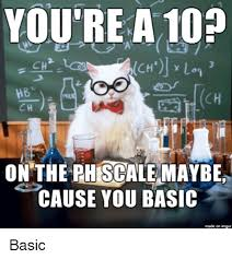 Ph Memes - you re a 10p on the ph scale maybe cause you basic made on basic