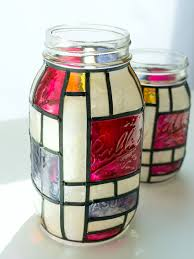 mondrian mason jars mason jar crafts love