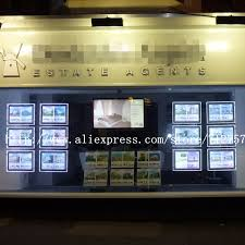 12pcs x a4 single sided real estate shop travel agency window