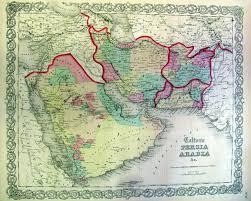 Biblical Map Of The Middle East by Prints Old U0026 Rare Middle East