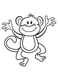 monkey funny face print coloring pages color printingsonic free