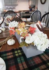 Kitchen Table Setting by Fall In My Kitchen The Creek Line House