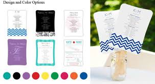 fan wedding program kits our fully customizable diy wedding fan program kits