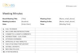 board meeting minutes template plain format dotxes