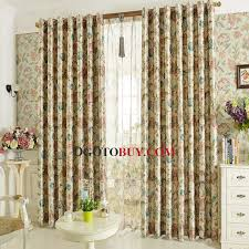 Cheap Black Curtains Vintage Botanical Pattern Thick Linen And Cotton Black Curtains
