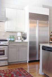 two toned kitchen cabinets backsplash kitchen cabinets light upper dark lower best two tone