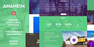 anaheim creative html template creative download agency art