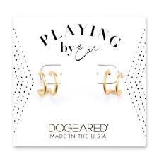 earring studs with loop by ear loop earrings sterling silver dogeared