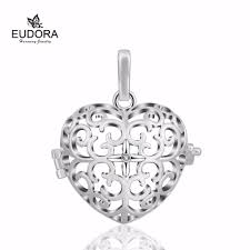 aliexpress com buy christmas gift crystal heart cage pendant