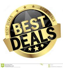 button with text best deals stock vector image 57216547