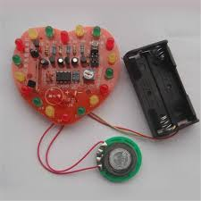 electronic components led lights diy kit led light music love music lights flashing heart shaped