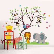 stickers animaux chambre bébé sticker animaux d afrique stickers chambre enfant