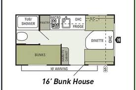 hilltop camper u0026amp rv one week rental of a 16 u0027 bunk house