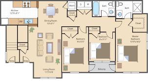 3 bed 3 bath floor plans rates royal courts apartments