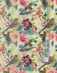 Removable Wallpaper Tiles by Birds In Tree Wallpaper Removable Wallpaper Flowers And