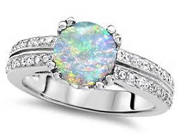 Opal Wedding Ring by Star K Round 7mm Simulated Opal Wedding Ring 308913