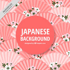 japanese wedding backdrop japanese background with fans vector free