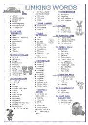 worksheet linking words