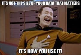 Startrek Meme - star trek the next generation meme not the size of your data on