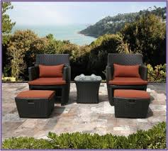 Patio Chair And Ottoman Set Patio Chair With Hidden Ottoman Home Outdoor Decoration