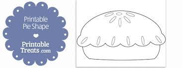Pie Template printable pie shape template printable treats
